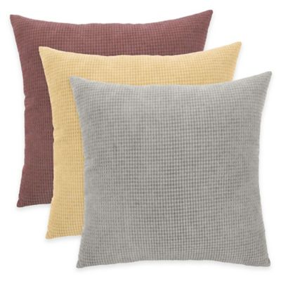 Arlee Home Fashions® Textured Woven Square Throw Pillow in Charcoal (Set of 2)