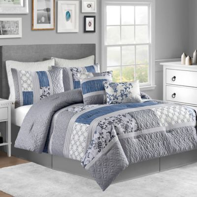 Emory 8-Piece King Comforter Set in Grey