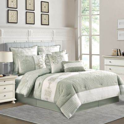 Ophelia King-Sized 8-Piece Comforter Set in Sage