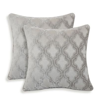 Arlee Home Fashions® Darissa Geometric Throw Pillows in Grey (Set of 2)