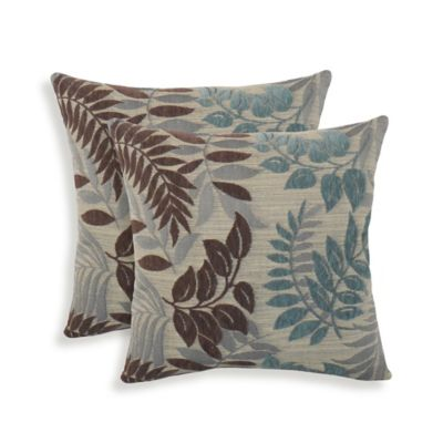 Arlee Home Fashions® Lyndsay Chenille Jacquard Leaf Throw Pillows (Set of 2)
