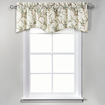 Allendale 17-Inch Lined Embroidered Valance in Ivory