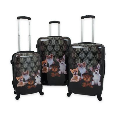 Chariot 3-Piece Luggage Set in Doggies