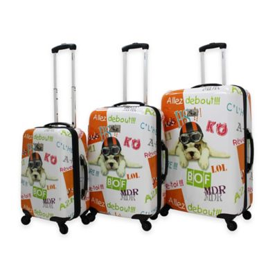 Chariot 3-Piece Luggage Set in Fly Dog
