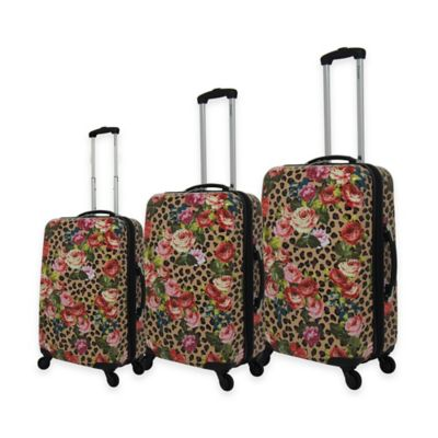 Chariot 3-Piece Luggage Set in Leo Flower