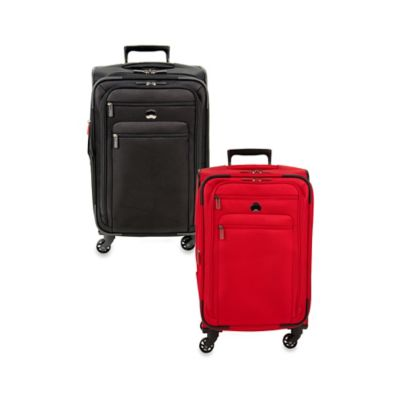 DELSEY Helium Sky 2.0 21-Inch Expandable 4-Wheel Spinner Suitcase in Black