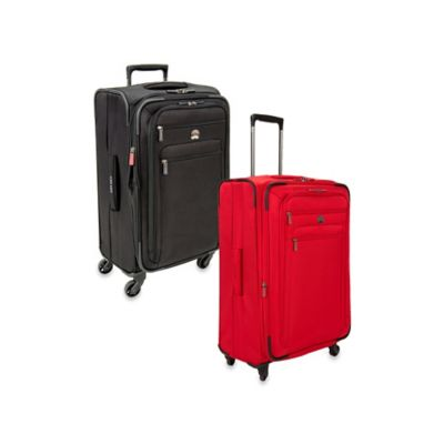 DELSEY Helium Sky 2.0 25-Inch Expandable 4-Wheel Spinner Suitcase in Black