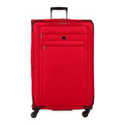 DELSEY Helium Sky 2.0 29-Inch Expandable 4-Wheel Spinner Suitcase in Red