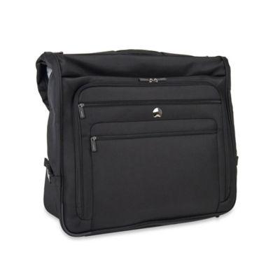 DELSEY Helium Sky 2.0 Book-Opening Garment Bag in Black