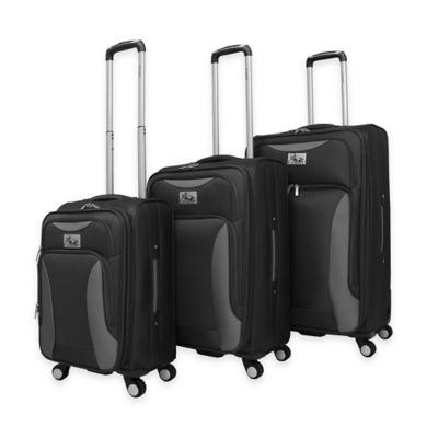 Chariot Bari 3-Piece Luggage Set in Black/Grey