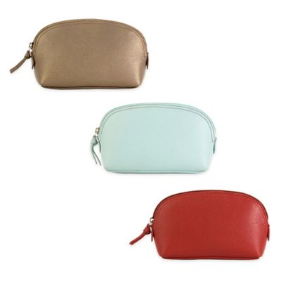 Hadaki® Leather Cosmetic Pouch in Bronze