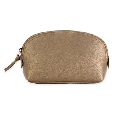 Hadaki® Leather Cosmetic Pouch in Bronze
