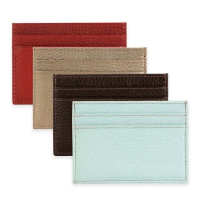 Hadaki® Leather Business Card Pouch in Aquifer