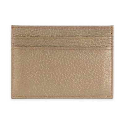 Hadaki® Leather Business Card Pouch in Bronze