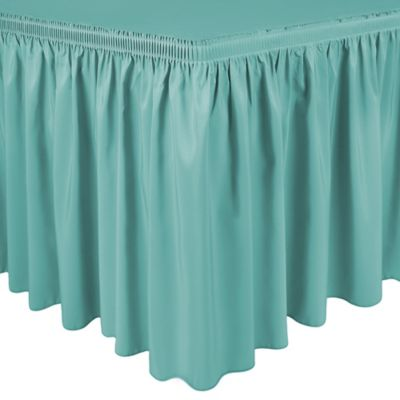 Shirred 11-Foot in Polyester Table Skirt in Aqua