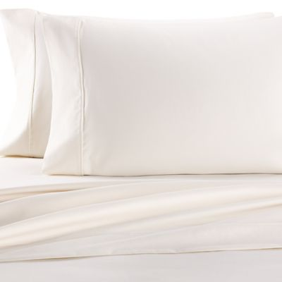 Cotton Rich 1000-Thread-Count Queen Sheet Set in White/Ivory (Set of 2)