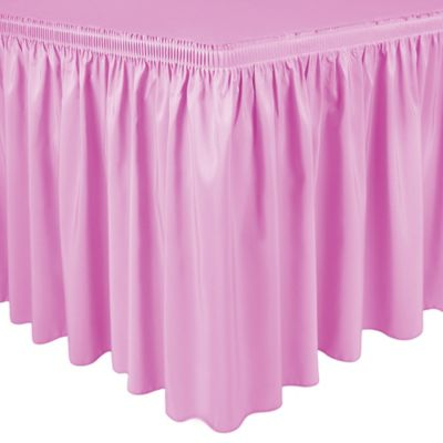 Shirred 21-Foot Polyester Table Skirt in Pink Balloon