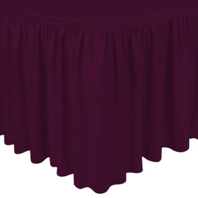 Shirred 21-Foot Polyester Table Skirt in Magenta