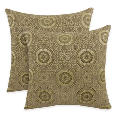 Arlee Home Fashions® Plinko Woven Medallion Square Throw Pillow in Summer (Set of 2)
