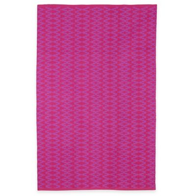 Fab Habitat Marga Geometric 5-Foot x 8-Foot Area Rug in Very Berry/Violet