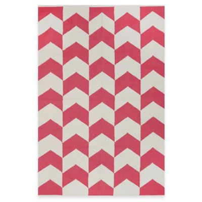 Fab Habitat Metropolitan Arrows 2-Foot x 3-Foot Accent Rug in Pink/White