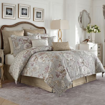 Croscill® Victoria Reversible Queen Comforter Set in Grey