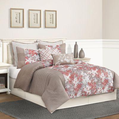 Skye Queen Comforter Set in Taupe