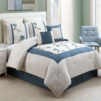 VCNY Trousdale 8-Piece Queen Comforter Set in Teal