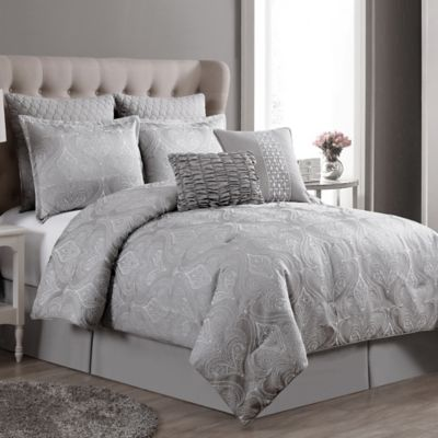 VCNY Rennes 8-Piece Queen Comforter Set in Taupe