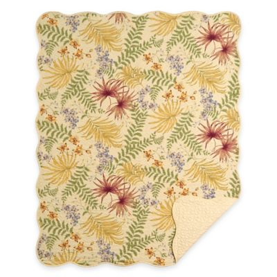 Fiji Floral Quilted Throw