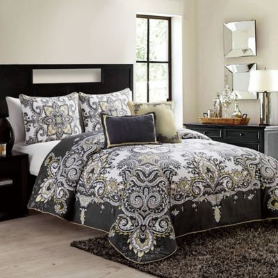 VCNY Istanbul 5-Piece Full/Queen Comforter Set in Navy
