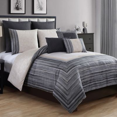 VCNY Legacy 8-Piece King Comforter Set in Grey
