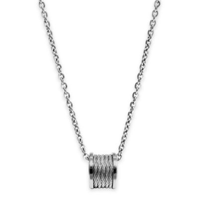 Charriol Stainless Steel 18.5-Inch Chain Forever Cable Pendant Necklace
