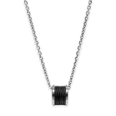Charriol Black-Plated Stainless Steel 18.5-Inch Chain Forever Cable Pendant Necklace