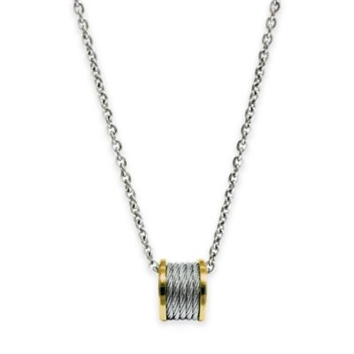 Charriol Yellow-Plated Stainless Steel 18.5-Inch Chain Forever Cable Pendant Necklace