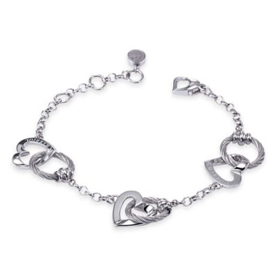 Charriol Silver and Stainless Steel 100 Ways to Love 7-Inch Bracelet