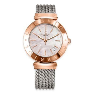 Charriol Alexandre C Ladies' 34mm Watch in Rose Gold-Plated Stainless Steel
