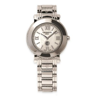 Charriol Parisii Ladies' 28mm Bracelet Watch in Stainless Steel with Mother of Pearl Dial