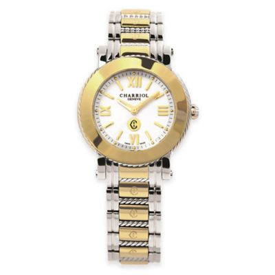 Charriol Parisii Ladies' 28mm Bracelet Watch in Two-Tone Stainless Steel w/Mother of Pearl