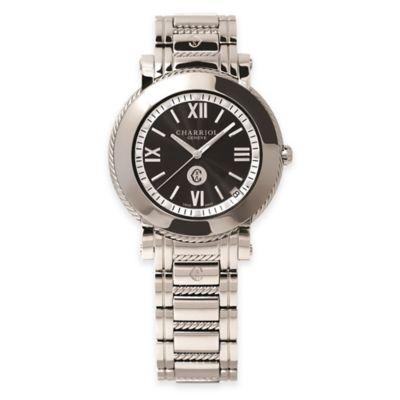 Charriol Parisii Ladies' 33mm Bracelet Watch in Stainless Steel with Black Dial