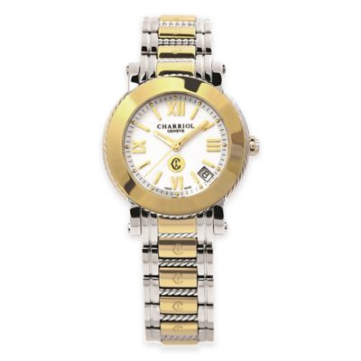 Charriol Parisii Ladies' 33mm Bracelet Watch in Two-Tone Stainless Steel with White Dial