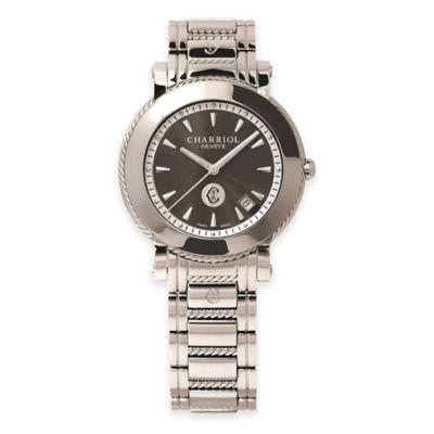 Charriol Parisii Ladies' 42mm Bracelet Watch in Stainless Steel with Black Dial