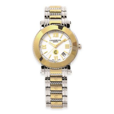 Charriol Parisii Ladies' 42mm Bracelet Watch in Two-Tone Stainless Steel with White Dial