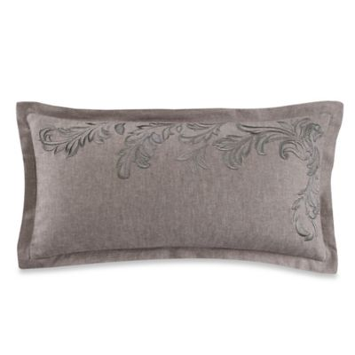 Wamsutta® Collection Luxury Italian-Made Alisa Boudoir Throw Pillow in Grey