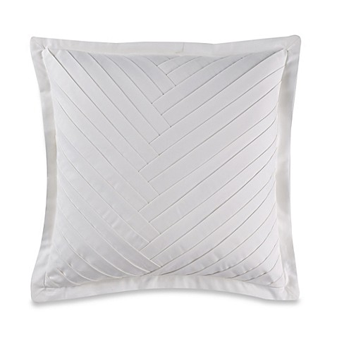Luxury Decorative Pillow Collection : Wamsutta Collection Luxury Italian-Made Alisa Square Throw Pillow in White - Bed Bath & Beyond
