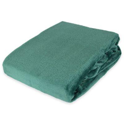 Plush Velvet Throw Blanket in Teal