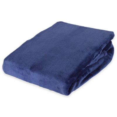 Navy Red Throw Blanket