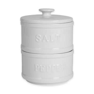 Everyday White® Bistro White Stacking Salt and Pepper Tower