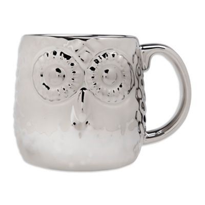 Home Essentials & Beyond Owl Embossed Silver-Plated Mug