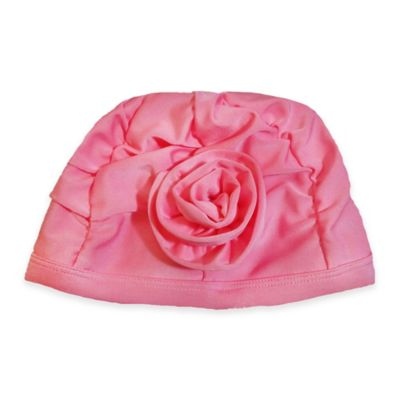 So 'dorable Size 6-12M Flower Swim Cap in Pink